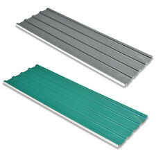 vidaXL 12pcs Roof Panel Shed Roofing Sheets 0.25mm Galvanised Steel Green/Grey