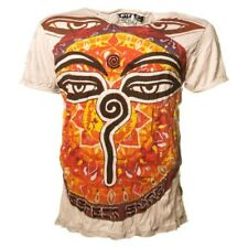 """Sure Colourful 70er Retro T-Shirt with """" buddha-eyes-om """" Symbol in Crinkle Look"""