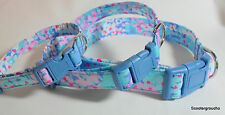 "Lilly Pulitzer ""Dot Dot Hop"" Fabric Handcrafted Dog Collar-All sizes- Made USA"