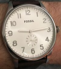 Mens Fossil FS4851 42MM All Stainless Original Band Quartz Watch Working
