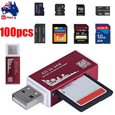 USB 2.0 All in 1 Multi Memory Card Reader for Micro SD SDHC TF M2 MMC MS PRO Lot