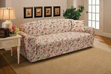 """PINK FLORAL WASHABLE COVERS FOR SOFA COUCH LOVESEAT CHAIR RECLINER---""""STRETCHES"""""""