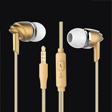 ES10 Gold Genuine In-Ear Bass Stereo 3.5mm Handsfree Headset Earbuds For HUAWEI