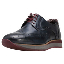 London Brogues Luke Mens Navy Leather Shoes