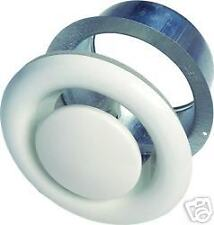 """4"""" 100mm White Metal Air Valves for Extractor Fans, Ducting, Ceiling Grille Vent"""