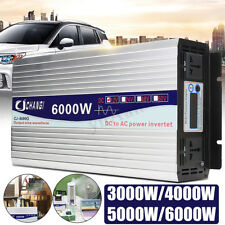 5000W 10000W Power Inverter Pure Sine Wave 12V 24V 220V Converter + LCD Display