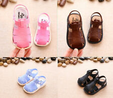 2018 Summer Kids Girls Sandals Toddler Boys Beach Sandals Closed Toe Shoes Size
