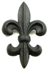 "Fleur De Lis Wall Plaque Sign Cast Iron  8"" Tall  French Country Wall Decor"