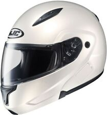 HJC CL-MAX2-BT- Bluetooth Ready Full-Face Modular Motorcycle Helmet -Pearl White
