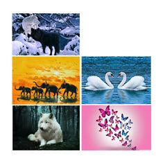 5D Diamond Embroidery Painting Animal Rhinestone Cross Stitch Kit Home Decor