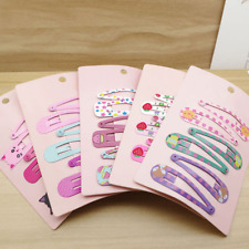 6PCS Hair Clips Snaps Hairpin Girls Baby Kids Hair Bow Accessories Gift Decor