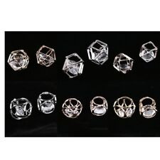 10 Pcs Metal Ring Pendants Jewelry Charms Glass Beads DIY Handmade Crafts