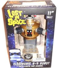 Vintage Lost in Space B-9 Robot Golden Boy Mint In Box MIB Lights/Sounds/Talks