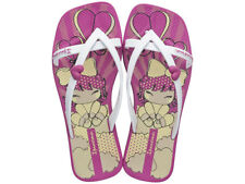 Kids Ipanema Flip Flops Kirey II Girls Anime Beach Sandals - Pink White