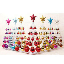 Mini Christmas Bauble Tree Ball Xmas Home Table Centerpiece Decoration