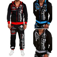 2PCS Men's Tracksuit Hoodies Sweatshirt Pants Sets Sport Wear Zipper Casual Suit