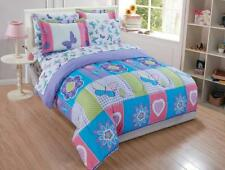 Fancy Collection 7pc Full Comforter Set Purple Turquoise Pink Green White...