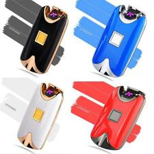 New USB Rechargeable Cigarette Lighter Windproof Electric Flameless Dual Arc