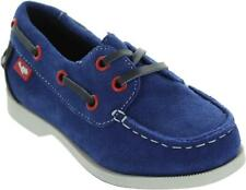 Boy's Chipmunks Ex-display Boat Moc Lace Up Suede Leather Boat Deck Shoes New
