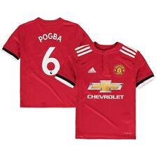 adidas Paul Pogba Manchester United Youth Red 2017/18 Replica Player Jersey