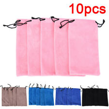 10X Soft Glasses Case Storage Pouch Bag Sunglasses Eyeglasses Cloth Pouch Bag HF