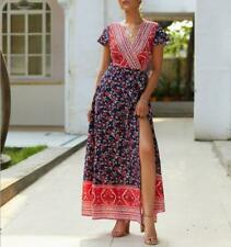 Women's Cocktail Summer Maxi Floral Beach Boho Party Long Evening Dress Sundress