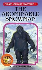 The Abominable Snowman (Choose Your Own Adventure #1) R. A. Montgomery Paperbac