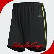 "NWT ADIDAS MEN'S RESPONSE 7"" CLIMALITE RUNNING SHORTS BS4674 BLACK SOLAR YELLOW"