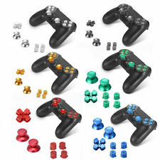 Metal ABXY Buttons Thumbsticks Thumb Joystick Caps D-Pad For PS4 Controller HOT