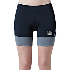 Santic Women Summer Bicycle Cycling Shorts Coolmax 4D Padded Shockproof Black