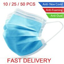 50pcs Disposable Face Guard Dust Mouth 3 Ply Cover Air purifying Maask ++++.+