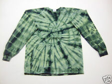 Tie Dye L/S T-Shirt 2XL 3XL 4XL 5XL Hunter Green