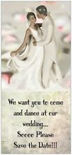 25 SAVE THE DATE African Amer  Wedding  Cards SAVE $$$$