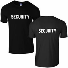 BLACK SECURITY T SHIRT ALL SIZES FREE DELIVERY
