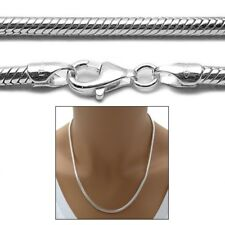 Sterling Silver SNAKE chain necklace 3mm 080 gauge