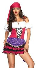 Adult Women's 3 Piece CRYSTAL BALL GYPSY Costume! Sizes S/M and M/L