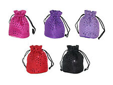 Ladie's Drawstring Pouch Purse *FUNKY* **MANY COLOURS**