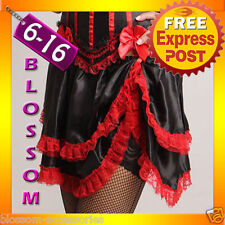 BAS4 Burlesque Can Can Saloon Girl Red Skirt S-XXL