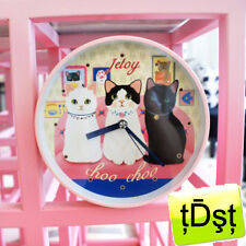 [JETOY]Korean CHOO CHOO CAT Tick Tock WALL C'LOCK JTY2109 Stylish Cat