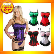 Z8 Burlesque Satin Moulin Rouge Costume Corset Skirt