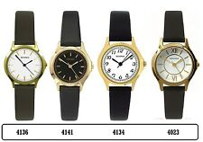 Sekonda Gold Tone Case Black Leather Strap Ladies Watch Range