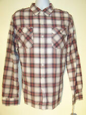 Converse One Star Red Plaid Long Sleeved Mens Shirt NEW