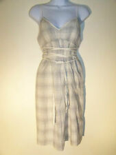 Ivory Adjustable Strap Wrap Sun Dress Converse New NWT