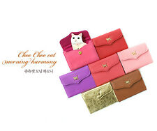 [JETOY]Korea Choo Choo Cat Morning Harmony Leather Name Card Holder J6022 Gold