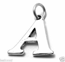 LETTER charm / pendant - 3D Sterling Silver Charms A to Z help yourself !!