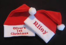 Personalised Any Name Baby Christmas Santa Hat Fantastic Quality Gift My 1st