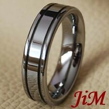 Tungsten Ring Mens Wedding Band Rings Classic Jewelry Titanium Color Size 6-15