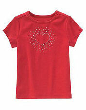 NWT Gymboree Full of Heart Red Valentine's Sparkle Heart Tee Shirt 5 6 7 8 9 New
