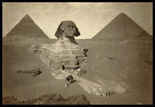 PH12 Vintage 1800's Sphinx Egypt Egyptian Pyramids Dream Stela Photo A3/A2
