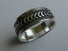 Tribal Etched Braid Knot Weave Sterling Silver Band Ring (Pick SIZE 10 11 12.5 )